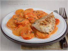 ...konyhán innen - kerten túl...: Kakukkfüves sárgarépa főzelék Fitt, Chicken, Vegetables, Vegetable Recipes, Veggies, Cubs
