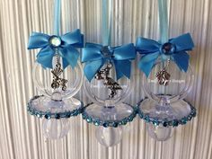 Greet your guest with one of these beautiful pacifier. These fancy pacifiers are perfect as baby shower favors and a Dont Say Baby game. The