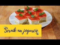 Sernik jogurtowy - lekki i kremowy z galaretką z domowego kompotu!! 🤩 | Słodka Kuchnia Pszczółek - YouTube Cereal, Cheesecake, Breakfast, Youtube, Food, Morning Coffee, Cheese Pies, Cheesecakes, Meals
