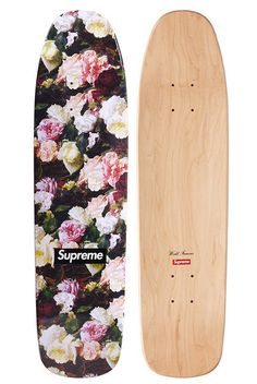 Supreme Power Corruption Lies PCL Cruiser Skateboard Deck in Floral Rose