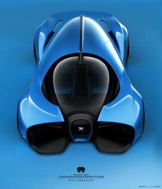 Nico Pressler's Bugatti Typ A concept rendering