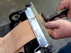 How to maintain the KEYSTONE Leather Splitter Blade - YouTube