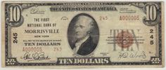 This is from the first sheet of type 2 $10 notes. Less than ten smalls exist and this might be the nicest of the group.