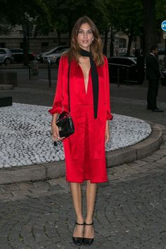 Alexa Chung in head-to-toe Prada
