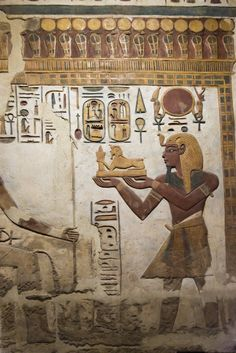 Karnak,  Khonsu Temple | Relief from the sanctuary of the Temple of Khonsu at Karnak depicting Ramesses III