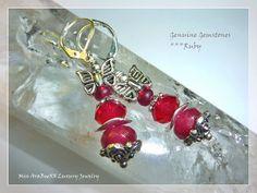 Rubin - Edelstein-Ohrringe Rubin Rot & 925 Sterling... - ein Designerstück von Miss-AraBeeXX bei DaWanda