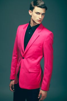 Pink on a man. I just don't know. It kind of makes me take a ...