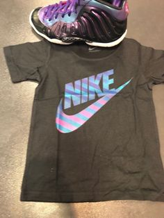 2975b524242 Nike Unicorn Galaxy Foamposite Preschool Shirt