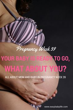 39 weeks pregnant... almost done! Read about mom and baby this week and find my…