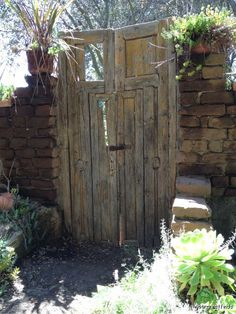 This old gate was found at Myrtle Creek Nursery in Fallbrook, CA.