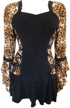 Bolero Corset Top in Leopard Print - The Bolero top features truly unique styling: it looks like a corset with a bolero jacket over it. www.Figuresque.com