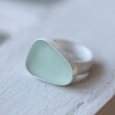 Sea Glass ring - loving the muted color.