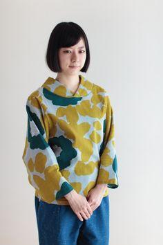 SOU・SOU 着衣 高島縮 薙(なぎ)ジバン - 衿がかわいいジバンです。