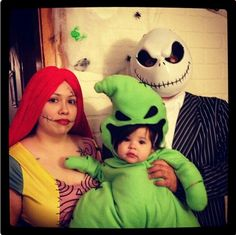 Nightmare Before Christmas costume. Jack, Sally & Oogie Boogie