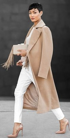 White, Blush And Nude Outfit by Micah Gianneli