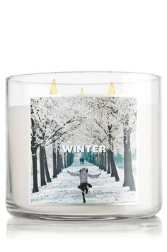 Winter 14.5 oz. 3-Wick Candle - Slatkin & Co. - Bath & Body Works Burning it now and it smells so good!!