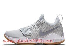 outlet store bfd7b e9306 Nike PG 1 Pure Platinum Chaussures de Prix Pas Cher Pour Homme Blanc Gris  878628 008