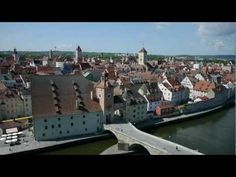 Regensburg via a flying drone...amazing. Never lived there but been there ...Heimweh!!!! sigh