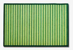 Alfombra bambú Vanern.  Las alfombras de bambú son ecológicas y resistentes gracias a su fibra natural de rápido crecimiento.  Fáciles de lavar, anti-deslizantes, costuras reforzadas y resistentes al agua. #alfombras #bambú #decoración #verde