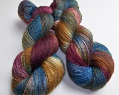 Hand Painted BFL and Silk Lace Weight Yarn -- Doctor Who: Mad Man With a Box (100g-875yds) by SeeJayneKnitYarns on Etsy https://www.etsy.com/listing/112984564/hand-painted-bfl-and-silk-lace-weight