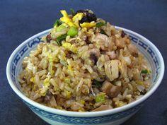 Chinese-Style Barbecue Sauce Chicken Fried Rice (燒烤醬鷄炒飯, Siu1 Haau1 Zoeng3 Gai1 Caau2 Faan6)