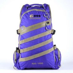 The Rig 1600M Hydration System, 100 oz., Blue/Tan in Color from Geigerrig