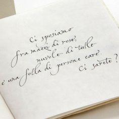 partecipazione scritta a mano su carta Amalfi di Gabriela Carbognani Hess