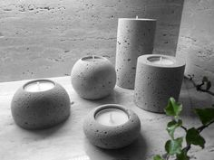 Our concrete candlesticks are great design accessories that will brighten your interior. Each piece is original and handmade. If you have any questions, please do not hesitate to contact me. Concrete Candle Holders, Shades Of Grey, Decoration, Candlesticks, The Originals, Interior, Handmade, Accessories, Design