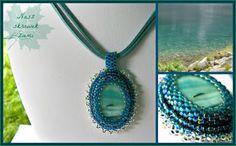 Naszyjnik z koralikami toho i masą perłową. Rękodzieło