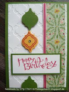 Geburtstagskarte mit Stampin Up - Modernes Mosaik und Sassy Salutations