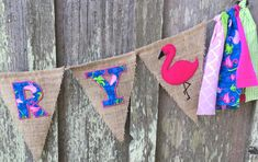 This amazing banner will be the perfect addition to your Flamingo themed birthday party or baby shower. You are sure to love this unique, custom name banner. The best part of using a name banner for your birthday or shower decor is that the banner can be reused as bedroom decor