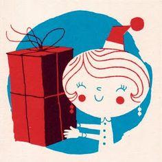 Polkka Jam handprinted Christmas cards. Design by Sami Vähä-Aho 2009.