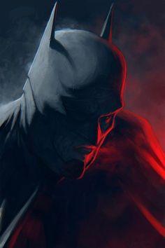 Batman speed painting by KrasnyNieJasny on @DeviantArt