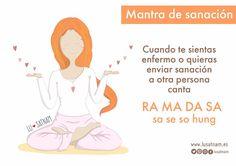 Mantra de sanación - Lusatnam. Ilustración para el alma