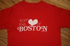 "Vintage ""FROM THE HEART OF BOSTON"" 1978 T-Shirt tee-Adult S-Hanes-Lucy's Canvas"