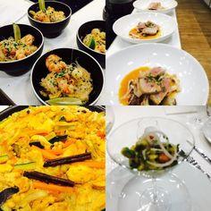 Taller de cocina internacional! #ceviche #pad thai #couscous #tataki by jani_paasikoski