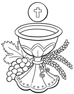 First Communion Coloring Pages - Free and Printable! Communion Chalice and Host Kids Printable Coloring Pages, Colouring Pages, Free Coloring, Coloring Pages For Kids, Coloring Sheets, Coloring Book, Communion Cups, Communion Gifts, Holidays Events