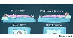 Aká je správna spánková poloha pri týchto 9 zdravotných problémoch
