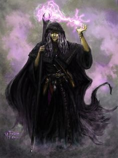 Raistlin Majere in Black Robes by MikeThom.deviantart.com