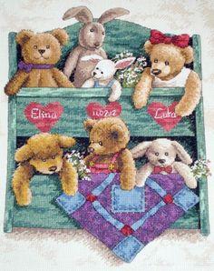 Скачать Вышивка «Animal Shelf» бесплатно. А также другие схемы вышивок в разделах: , Dimensions, Мишки Тедди