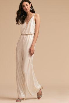 La Lune Sequin Jumpsuit Perhaps for the bridal shower Sequin Jumpsuit, White Jumpsuit, Jumpsuit Dress, Dress Up, Play Dress, Little White Dresses, Nice Dresses, Wedding Jumpsuit, Dress Rental