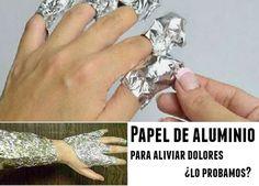 Papel de aluminio para aliviar dolores