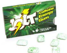 Caffeine Chewing Gum ... yes, please! Chewing Gum, Caffeine, Bubble Gum, Gumball