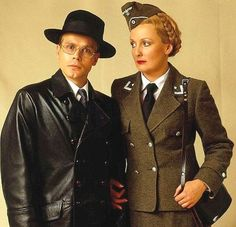Herr Otto Flick and Private Helga Geerhartn - 'Allo, 'Allo British Comedy Series, British Tv Comedies, Classic Comedies, British Actors, Radios, Dad's Army, Army Party, British Humor, Uk Tv