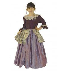 déguisement marquise luxe en taffetas et lin avec fermeture éclairs et jupe de ampleur;  #lepanacheblanc