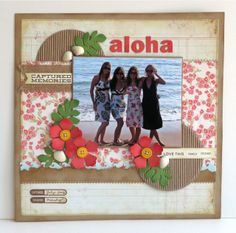 Aloha.  Document It - Captured Memories; Document It - Off the Chart; Circle STAX Set 1 Die-namics; Hibiscus Die-namics; By the Letters Die-namics; Fishtail Flags STAX Die-namics, Catch a Wave Die-namics; Accent It - Flags and Tags Die-namics - Melody Rupple