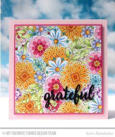 Bundles of Blossoms Background, Grateful for You - Karin Åkesdotter  #mftstamps