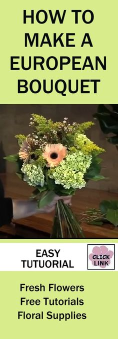 http://www.wedding-flowers-and-reception-ideas.com/how-to-make-a-european-bridal-bouquet.html - European hand style bouquet with flared stems explained in this step by step tutorial.  Buy fresh flowers and florist supplies all in one place!