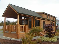 Park Model Homes cabins are a great way to get away. Our cabins are designed for comfort and durability with exterior appointments to match its natural surroundings.Uses include hunting cabins, bunk houses, rental units, employee housing,