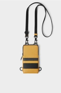 Fashion Bags, Mens Fashion, Leather Phone Case, Zara Man, Cell Phone Cases, Shoulder Bag, Wallet, Accessories, Phones